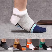5 Pairs Men's five finger toe Socks Cotton Ankle Casual Sports Low Cut Breathe