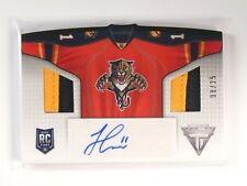 13-14 Titanium Sweaters Jonathan Huberdeau autograph auto patch #D08/25 *47369