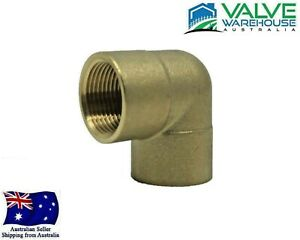 """Brass Elbow 90 Degree Female Threaded BSP 1/8"""" Inch to 3"""" Inch - Watermarked"""