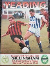 Yeading Vs Gillingham Fa Cup 1st Round Proper November 1993 Free Postage!