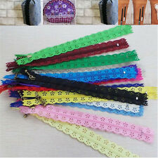 5/10x Nylon Mixed Color Lace Edge Zipper Puller For Tailor Sewer DIY Craft Decor