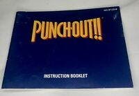 Punch-Out Nintendo NES Instruction Manual Booklet