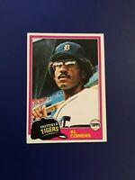 1981 Topps # 123 AL COWENS Detroit Tigers Great Baseball Card Sharp LOOK !