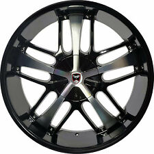 4 GWG Wheels 20 inch Black Machined SAVANTI Rims fits NISSAN TITAN 2004 - 2014