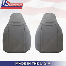 For 2000-2002 Ford Ranger XL XLT Driver & Passenger Top CLOTH Seat Cover Gray