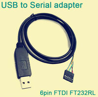 FTDI FT232RL USB to TTL Serial RS232 Cable 6 Pin ARM PIC Pi & Arduino