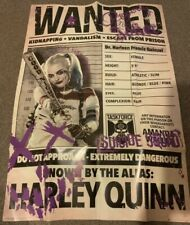 More details for harley quinn suicide squad wanted poster (margot robbie picture) scarce!!