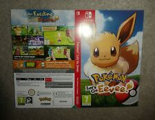 NO GAME Nintendo Switch Lets Go Eevee pokemon promo Sleeve official shop display