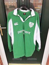Vintage Canterbury Irish Ireland Permanent TSB Green Rugby Jersey M