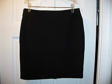 Flirtatious Black Size 11 Skirt Lightweight Above the Knee Belt Hoops Stretchy