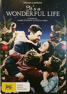It's a Wonderful Life  🎬  James Stewart Donna Reed - DVD 🎬 FREE POST