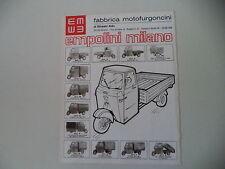 advertising Pubblicità 1976 MOTOFURGONI EMPOLINI D/L/M/N/P/G/H/I/R/NU/E/F