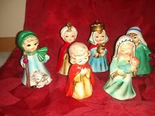 Vintage Josef Originals Set of 6 Chalkware Christmas Nativity Figures *Korea*