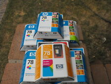 LOT OF 6 HP 78 INK CARTRIDGES + 2 HP 15 CARTRIGES EXPIRED