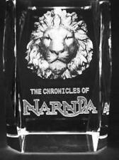 3D CHRONICLES OF NARNIA 3 Inch GLASS PAPERWEIGHT Laser Etched Crystal