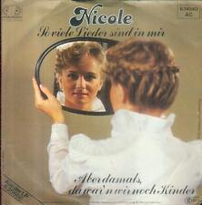 """7"""" Nicole/So Viele Lieder Sind In Mir"""