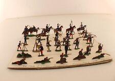 HEINRICHSEN Lot de 36 soldats prussiens ancien plat d'étain 19ème siècle 25 mm