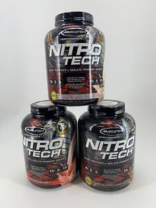 MuscleTech Nitro Tech Performance Series Protein 4 lb 40 Servings Choose Flavor