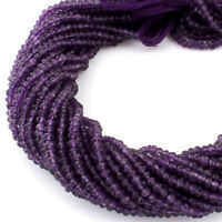 Natural African Amethyst Micro Faceted Briolette Beads 2mm Strand 13-14 inches