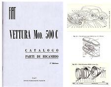FIAT topolino  CATALOGO PARTI DI RICAMBIO  -500C ed.1949 -