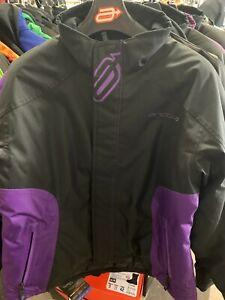 New Women's Arctiva Pivot Jacket ~ Black/ Purple ~ Lg ~ # 3121-0669