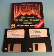 DOOM I 1993 Floppy Disk PC Vintage Game Shareware Gold Medallion FIRST RELEASE