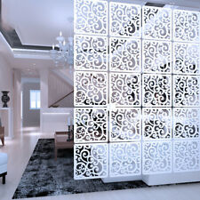 """12Pcs Room Divider Folding Privacy Hanging Screens Dorm Office Decor White 11.4"""""""