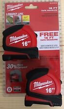 Milwaukee 16 ft. Compact Tape Measure - Pack of 2