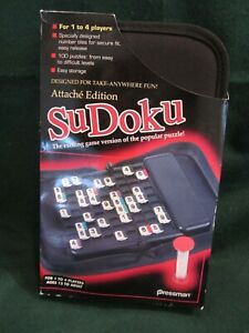 Sudoku Attaché Edition Travel Game 100 Puzzles Easy Storage Pressman Ages 13+