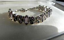 CLASSY🔯 PRISTINE🔯 23g sterling silver 925 adjustable faceted amethyst bracelet