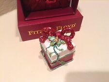 Fitz And Floyd Christmas Hinged Box Treasures Collection 2004