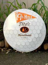 Tito;s Vodka Austin Tx. Tin Sign New. Man Cave Home Bar. Large. Golfers Look 👀