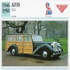 1946-1950 ALVIS TA14 Classic Car Photograph / Information Maxi Card