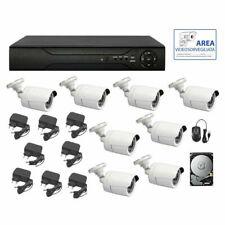 KIT VIDEOSORVEGLIANZA AHD IP CLOUD DVR 8 CANALI 8 TELECAMERE HD IR  HD 500G