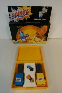 Vintage 1987 TOMY Spinjas Warriors Game Gash and Klaw in Yellow Arena With Box