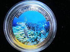 """Palau 1 dollar 2008 """"Endangered Wildlife Series - Hawksbill Turtle"""" Proof"""