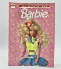 Vintage Barbie 1992 ~ Big Color / Activity Book ~ Flowers 55 pgs *Unused* New