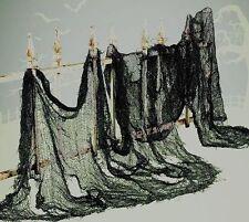 "CREEPY CLOTH Halloween Decoration Gauze Large Black 30"" x 72"" House Prop New"