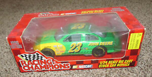 New 1996 Racing Champions 1:24 NASCAR Chad Little John Deere Cast Stock #23 Car