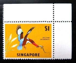 SINGAPORE 1962 $1 Bird SG75 U/M Corner SALE NC265