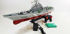 Remote Controlled Navy Aircraft Carrier RC Battle Ship Model Speed Boat Army Toy