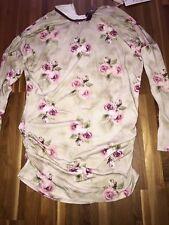 Monnalisa   Rosen Shirt langarm Shirt romantisch schön NEU Gr, 10 Jahre  140/134