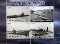 Chad 2014 MNH Submarines 4v M/S Boats Ships Stamps