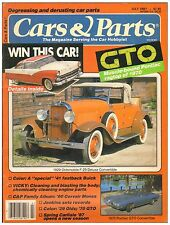 CARS & PARTS magazine July 1987--Oldsmobile, Ford, Buick, Pontiac and Chevrolet