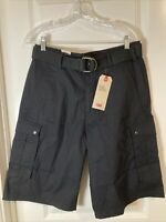 NWT Levi's Big E White Tab Men's Snap Cargo Shorts with a Belt Black Size: 31