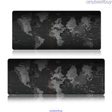 1* 900*400*2MM World Map Anti-Slip Computer Rubber Game Mouse Pad Mat Large XXL