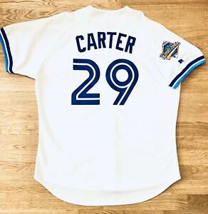 NEW Sz 48 Authentic Russell Athletic Joe Carter 1993 WS Retro Blue Jays Jersey