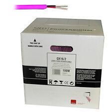 QED QX16/2 2core speaker cable 100m drum PINK