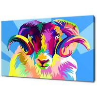 RAM POP ART CANVAS PRINT PICTURE WALL ART FREE UK DELIVERY VARIETY OF SIZES