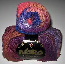 LOT of 5 balls of NORO TAIYO colorful silk wool cotton knitting yarn color #73